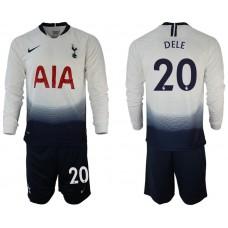 Tottenham Hotspur 2018/19  #20 Dele Alli Home Long Sleeve Jersey