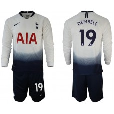 Tottenham Hotspur 2018/19 #19 Dembele Home Long Sleeve Jersey