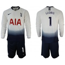 Tottenham Hotspur 2018/19 #1 Hugo Lloris Home Long Sleeve Jersey