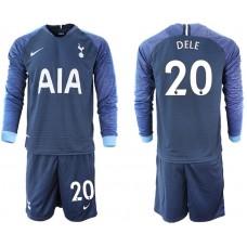 Tottenham Hotspur 2018/19 #20 Dele Alli Away Long Sleeve Jersey