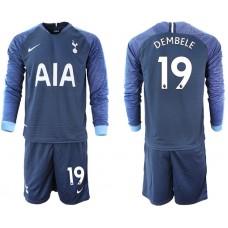 Tottenham Hotspur 2018/19 #19 Dembele Away Long Sleeve Jersey