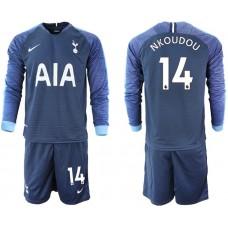 Tottenham Hotspur 2018/19 #14 Georges-kevin N'koudou Away Long Sleeve Jersey