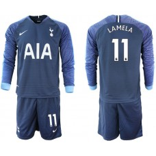 Tottenham Hotspur 2018/19 #11 Erik Lamela Away Long Sleeve Jersey