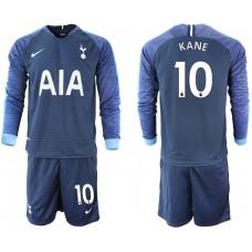Tottenham Hotspur 2018/19 #10 Harry Kane Away Long Sleeve Jersey