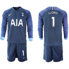 Tottenham Hotspur 2018/19 #1 Hugo Lloris Away Long Sleeve Jersey