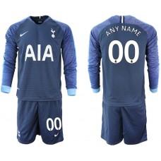 Tottenham Hotspur 2018/19 Away Long Sleeve Custom Jersey