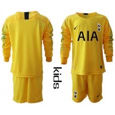 Youth - Tottenham Hotspur 2018/19 Yellow Goalkeeper Long Sleeve Jersey