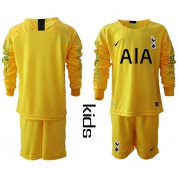 Youth - Tottenham Hotspur 2018/19 Yellow Goalkeeper Long Sleeve Jersey