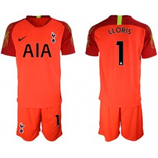 Tottenham Hotspur 2018/19 #1 Hugo Lloris Red Goalkeeper Jersey