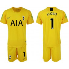 Tottenham Hotspur 2018/19 #1 Hugo Lloris Yellow Goalkeeper Jersey