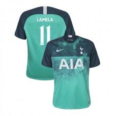Tottenham Hotspur 2018/19 Third Replica #11 Erik Lamela Green Authentic Jersey