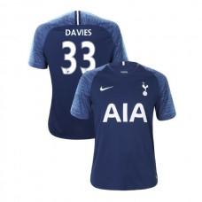 Tottenham Hotspur 2018/19 Away Replica #33 Ben Davies Navy Authentic Jersey