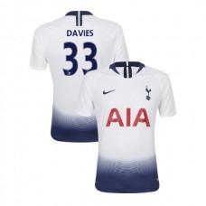 Tottenham Hotspur 2018/19 Home Replica #33 Ben Davies White Authentic Jersey