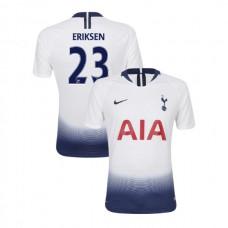 Tottenham Hotspur 2018/19 Home Replica #23 Christian Eriksen White Authentic Jersey