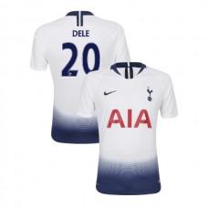 Tottenham Hotspur 2018/19 Home Replica #20 Dele Alli White Authentic Jersey