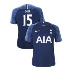 Tottenham Hotspur 2018/19 Away Replica #15 Eric Dier Navy Authentic Jersey