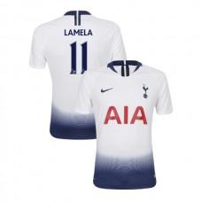 Tottenham Hotspur 2018/19 Home Replica #11 Erik Lamela White Authentic Jersey