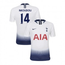 Tottenham Hotspur 2018/19 Home Replica #14 Georges-Kevin N'Koudou White Authentic Jersey