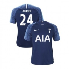 Tottenham Hotspur 2018/19 Away Replica #24 Serge Aurier Navy Authentic Jersey