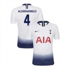 Tottenham Hotspur 2018/19 Home Replica #4 Toby Alderweireld White Authentic Jersey