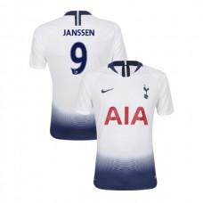Tottenham Hotspur 2018/19 Home Replica #9 Vincent Janssen White Authentic Jersey