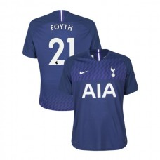 Tottenham Hotspur 2019/20 #21 Juan Foyth Navy Away Authentic Jersey