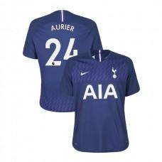Tottenham Hotspur 2019/20 #24 Serge Aurier Navy Away Authentic Jersey