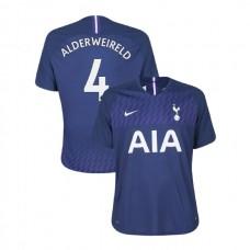 Tottenham Hotspur 2019/20 #4 Toby Alderweireld Navy Away Authentic Jersey