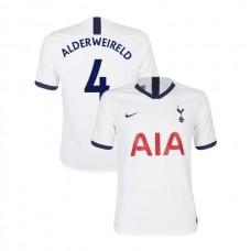 Tottenham Hotspur 2019/20 #4 Toby Alderweireld White Home Authentic Jersey