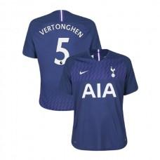 Tottenham Hotspur 2019/20 #5 Jan Vertonghen Navy Away Authentic Jersey