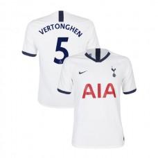 Tottenham Hotspur 2019/20 #5 Jan Vertonghen White Home Authentic Jersey