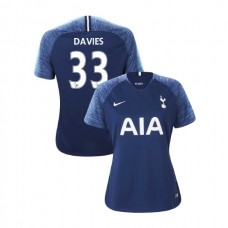 WOMEN - Tottenham Hotspur 2018/19 Away #33 Ben Davies Navy Authentic Jersey