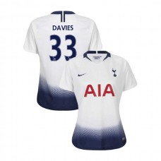 WOMEN - Tottenham Hotspur 2018/19 Home #33 Ben Davies White Authentic Jersey