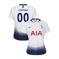 WOMEN - Tottenham Hotspur 2018/19 Home #00 Custom White Authentic Jersey