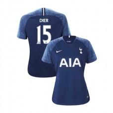 WOMEN - Tottenham Hotspur 2018/19 Away #15 Eric Dier Navy Authentic Jersey