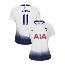 WOMEN - Tottenham Hotspur 2018/19 Home #11 Erik Lamela White Authentic Jersey