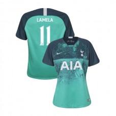 WOMEN - Tottenham Hotspur 2018/19 Third #11 Erik Lamela Green Authentic Jersey
