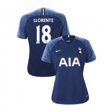 WOMEN - Tottenham Hotspur 2018/19 Away #18 Fernando Llorente Navy Authentic Jersey