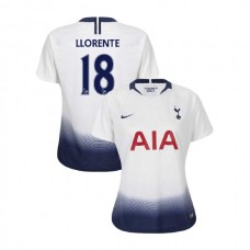 WOMEN - Tottenham Hotspur 2018/19 Home #18 Fernando Llorente White Authentic Jersey