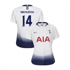 WOMEN - Tottenham Hotspur 2018/19 Home #14 Georges-Kevin N'Koudou White Authentic Jersey