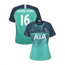 WOMEN - Tottenham Hotspur 2018/19 Third #16 Kyle Walker-Peters Green Authentic Jersey