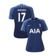 WOMEN - Tottenham Hotspur 2018/19 Away #17 Moussa Sissoko Navy Authentic Jersey