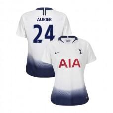 WOMEN - Tottenham Hotspur 2018/19 Home #24 Serge Aurier White Authentic Jersey