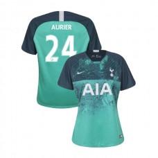 WOMEN - Tottenham Hotspur 2018/19 Third #24 Serge Aurier Green Authentic Jersey