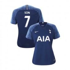 WOMEN - Tottenham Hotspur 2018/19 Away #7 Son Heung-min Navy Authentic Jersey