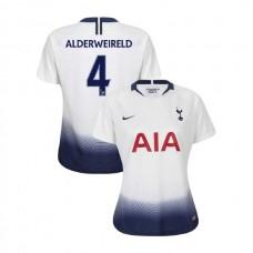 WOMEN - Tottenham Hotspur 2018/19 Home #4 Toby Alderweireld White Authentic Jersey