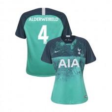 WOMEN - Tottenham Hotspur 2018/19 Third #4 Toby Alderweireld Green Authentic Jersey