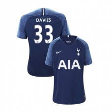 YOUTH - Tottenham Hotspur 2018/19 Away #33 Ben Davies Navy Authentic Jersey