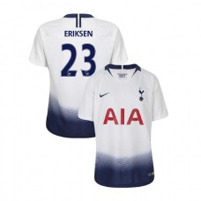 YOUTH - Tottenham Hotspur 2018/19 Home #23 Christian Eriksen White Authentic Jersey