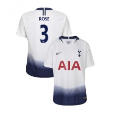 YOUTH - Tottenham Hotspur 2018/19 Home #3 Danny Rose White Authentic Jersey